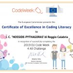 Eccellenza per il Code Week 2019-2020